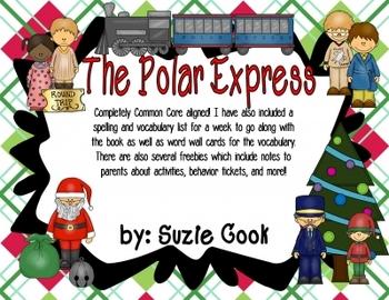The Polar Express: Craftivity, Spelling & Vocabulary, Math