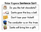 The Polar Express Sentence Sort:  Sort the cards to make s