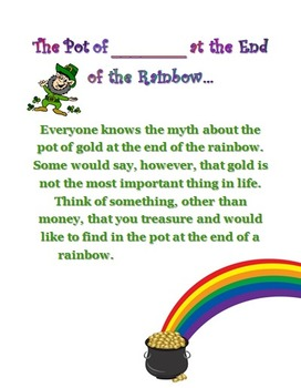 The Pot of _______ at the End of the Rainbow