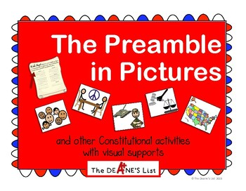 The Preamble in Pictures & Constitutional activities with