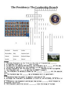 The Presidency Crossword