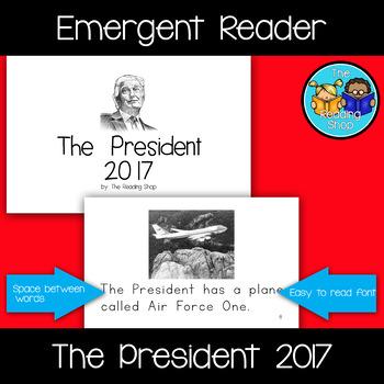 The President 2017 Emergent Reader - Donald Trump - Presid