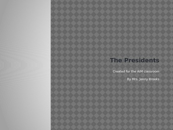 The Presidents from 1789-1861