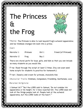 The Princess and the Frog - Readers' Theater Play - early