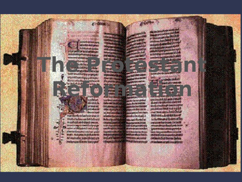 The Protestant Reformation PowerPoint with Imbedded Questions