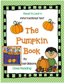 The Pumpkin Book by Gail Gibbons A Complete Book Response Journal