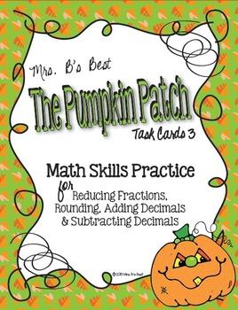 The Pumpkin Patch Task Cards -  Math Skills Practice, Set 3