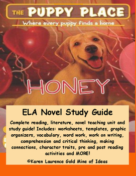 The Puppy Place HONEY by Ellen Miles ELA Novel Literature