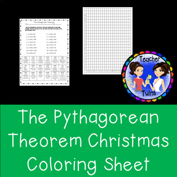 The Pythagorean Theorem Coloring Grid Sheet
