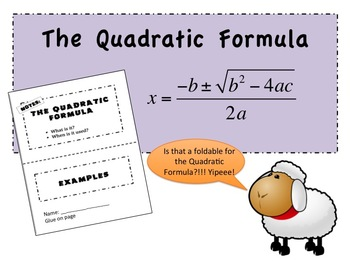 The Quadratic Formula Foldable PowerPoint for Interactive