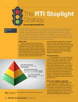 The RTI Stoplight Strategy