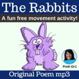 "Classroom Free Movement Poem | ""The Rabbits"" by Lisa Gilla"