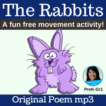 """""""The Rabbits"""" Easter Free Movement Poem with Sound Effects"""