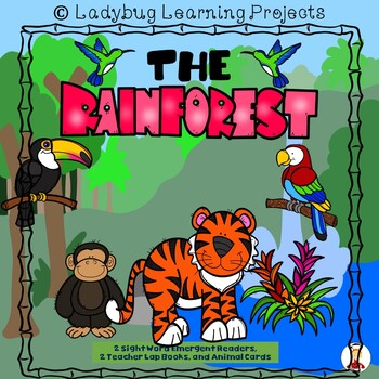 The Rainforest Bundle  (2 Sight Word Readers, 2 Lap Books,