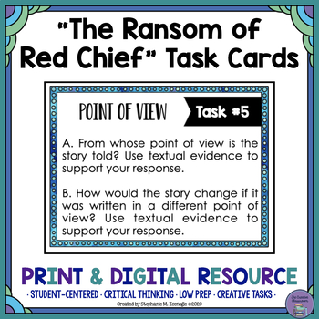 """The Ransom of Red Chief"" by O. Henry Task Cards"
