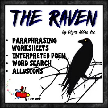 The Raven Paraphrasing Lesson: Worksheets, Word Search, an
