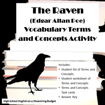 The Raven Vocabulary Terms and Concepts Activity (Edgar Al