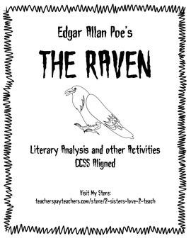 The Raven by Edgar Allan Poe - Poem Analysis Activity Stan