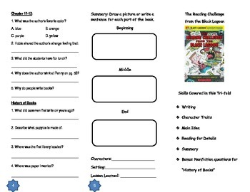 The Reading Challenge from the Black Lagoon Comprehension