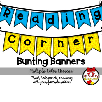 The Reading Corner Bunting Banner