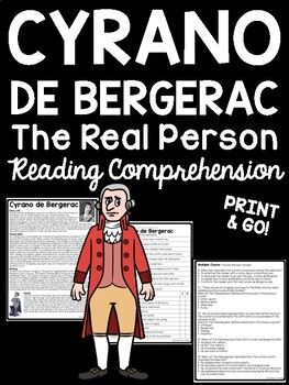 The Real Cyrano de Bergerac Reading Comprehension Workshee