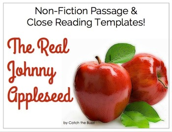 Johnny Appleseed ~ Close Reading Passage & Templates - The