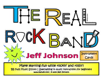 The Real Rock Band Instrument Cards