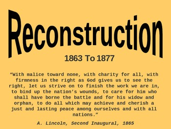 The Reconstruction of the U.S.