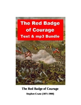 The Red Badge of Courage text and mp3 bundle