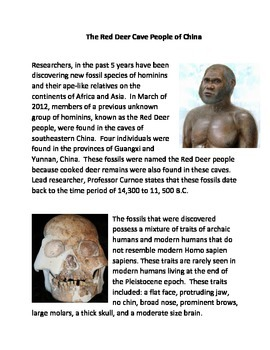 The Red Deer Cave People of China