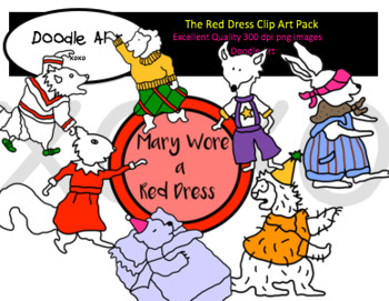 The Red Dress Clipart Pack