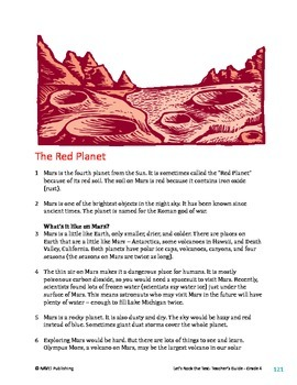 The Red Planet (Pack) - Informational Text Test Prep