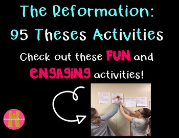 The Reformation- 95 Theses Activity