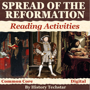 The Reformation Spreads Reading Activities