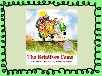 The Relatives Came Vocabulary Visuals (for ELLs)