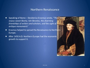 The Renaissance Moves North