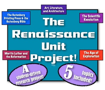 Renaissance Unit Project! A student-driven research projec