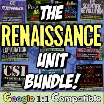 Renaissance Unit Bundle! 8 resources for Renaissance, Refo