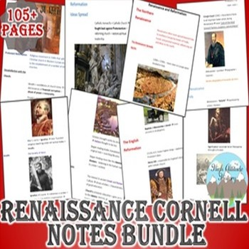 Renaissance and Reformation Cornell Notes *Bundle* (World