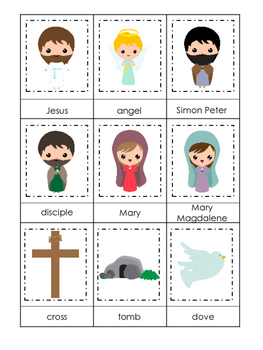 The Resurrection 3 Part Matching Game. Preschool Bible His