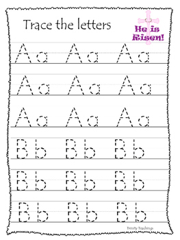 The Resurrection A-Z Tracing Pritnable Worksheets. Prescho