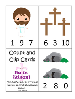 The Resurrection Count and Clip Game. Preschool Bible Hist