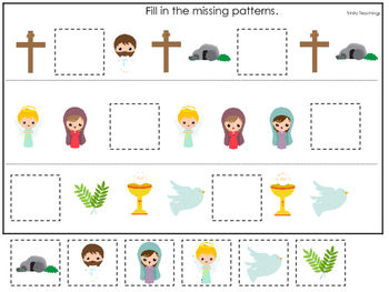 The Resurrection Missing Pattern Game. Preschool Bible His
