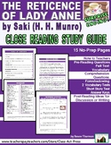The Reticence of Lady Anne: Study Guide for Saki's Short S