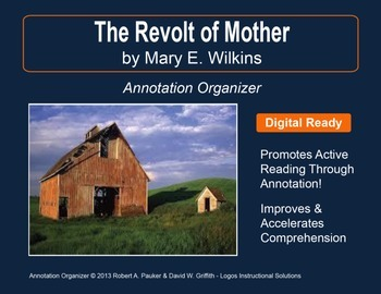 """The Revolt of 'Mother'"" by Mary E. Wilkins: Annotation Organizer"
