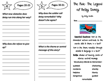 The Ride: The Legend of Betsy Dowdy Trifold - ReadyGen 3rd