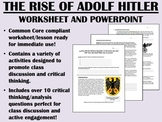 The Rise of Adolf Hitler - Global/World History Common Core