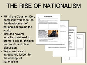 The Rise of Nationalism - Global/World History Common Core