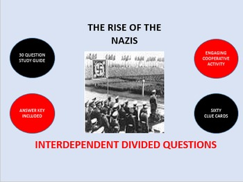 The Rise of the Nazis: Interdependent Divided Questions Activity