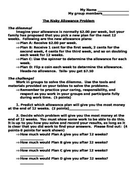 The Risky Allowance Problem